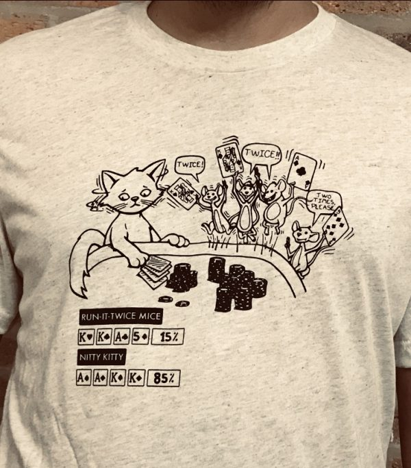 Run it Twice Mice Poker T-Shirt