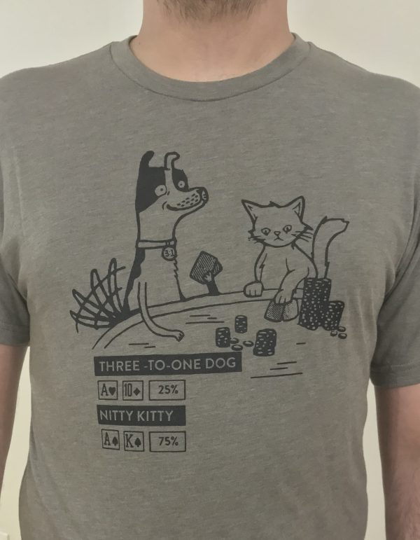 Three to One Dog Poker T-Shirt